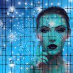 Kvinde i blåt fremtidsscenarie