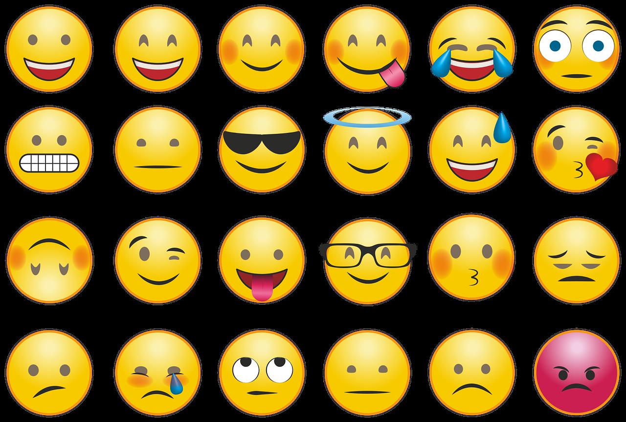 forskellige smiley ikoner